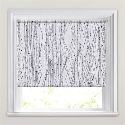 white patterned roller blind modern black white grey electric patterned blackout
