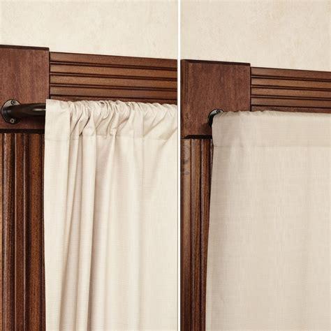 Blockaide Wrap Around Curtain Rod Windows And Curtains