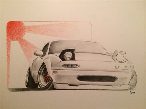 miata drawing mazda miata by g rednek on deviantart