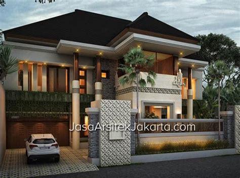 desain kamar mandi gaya bali desain rumah megah double facade luas bangunan 570 m2 gaya