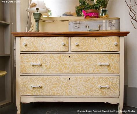 Stenciling Furniture by Furniture Stenciling Ideas With Royal Design Studio