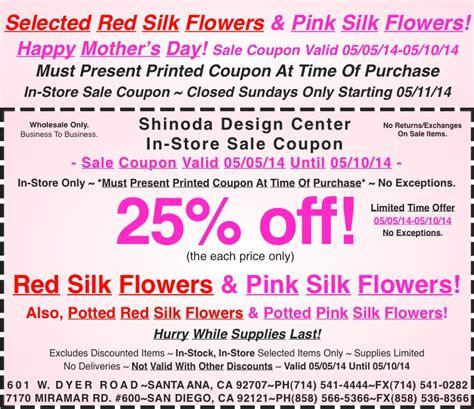 flower design voucher code in store coupon 25 off red silk flowers pink silk