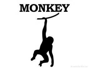printable monkey silhouette print free monkey silhouette