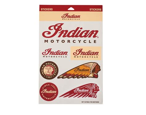 indian motorcycle 174 sticker set indian motorcycle