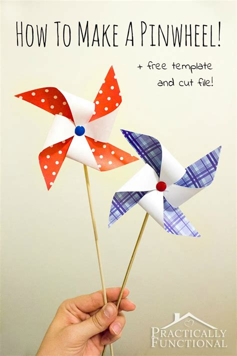 Make A Paper Windmill - how to make a pinwheel free template