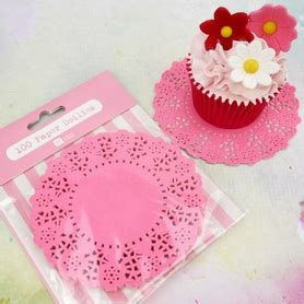 Doily Mix Pack pack of 100 mini pink doilies