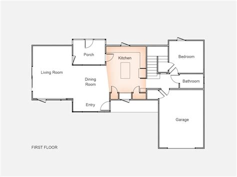 hgtv smart home floor plan kitchen upon entering visitors are led directly into the