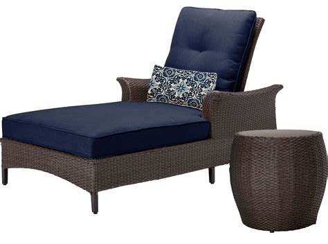 navy blue chaise lounge hanover gramercy blue 2 piece chaise set gramercy2pc nvy