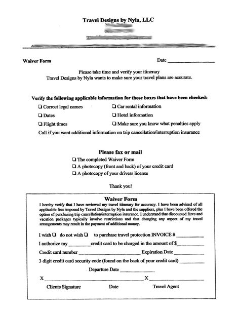 Waiver Template by Waiver Form Free Printable Documents