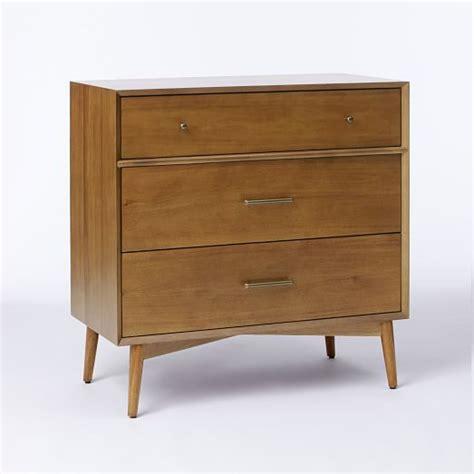 3 Dresser Drawer by Mid Century 3 Drawer Dresser Acorn West Elm