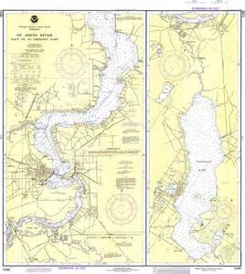 st johns river in florida map st johns river racy point to crescent lake 1980