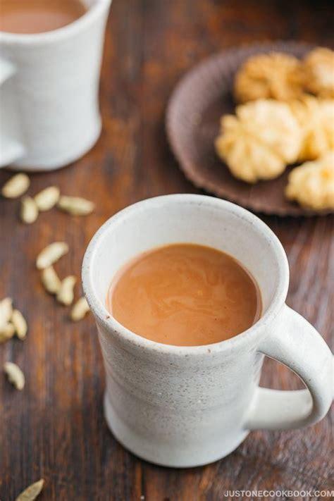 hot coffee masala masala chai indian spiced milk tea just one cookbook
