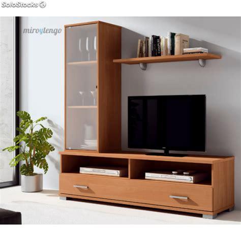 mueble de tv comedor  salon calisto color cerezo