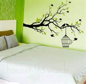 wall decals rooms self adhesive vinyl wall decal tree branch with flying birds