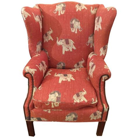 big cing chairs big comfy vintage chippendale style wing chair at 1stdibs