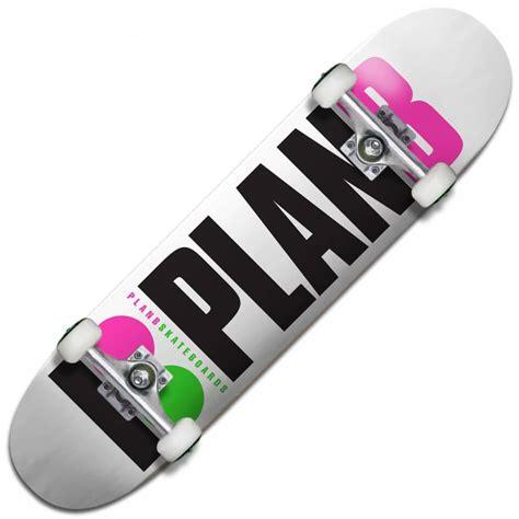 complete skateboard decks plan b skateboards team og neon complete skateboard 7 75