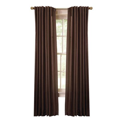 home depot curtain panels martha stewart living tilled soil faux silk back tab