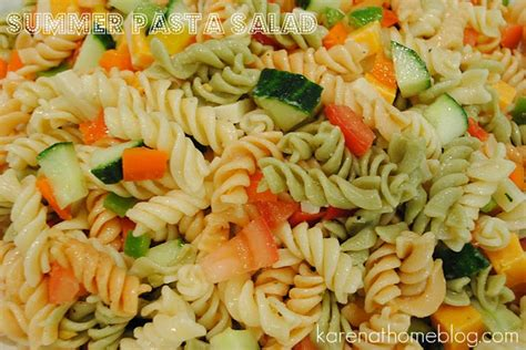 yummy pasta salad karen at home summer pasta salad
