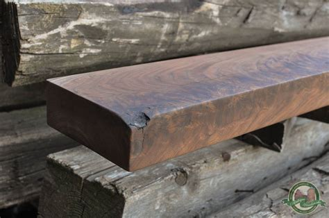 black walnut fireplace mantel shelf chicago soo antique woodworks