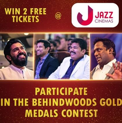 participate in contest take part in the behindwoods gold medals contest