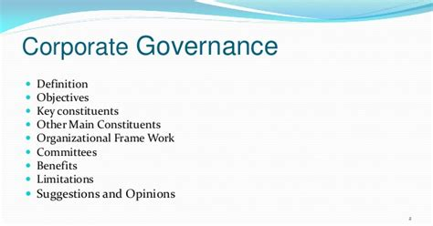Corporate Governance Mba Notes Pdf by Corporarate Governance