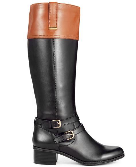 boots at macy s lyst bandolino carlotta wide calf boots a macy