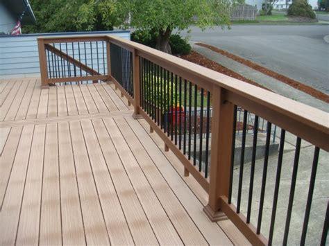 Composite Handrail composite deck company deck masters llc portland or