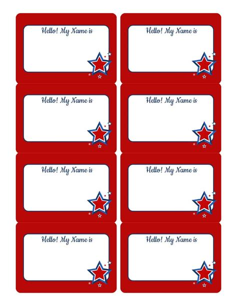 identification card blank white name tag badge