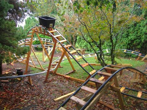 backyard wooden roller coaster the sweetest grandfather in the world builds backyard