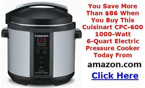 cuisinart electric pressure cooker the ultimate cuisinart electric pressure cooker cookbook simple and convenient recipes using cuisinart electric pressure cooker books hendrikas april 2010