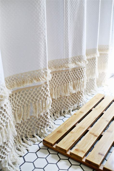 Shower Tutorial by Macrame Shower Curtain Diy A Beautiful Mess