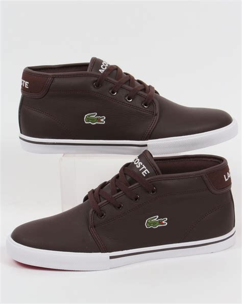 lacoste boots lacoste thill leather trainers brown boots shoes