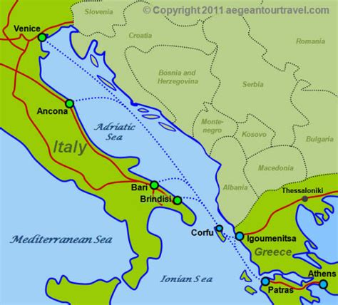 fast boats to greek islands ferry route map italy greece