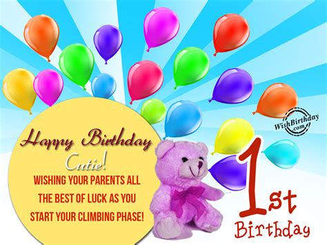 Happy Birthday 1st Year Wishes Birthday Wishes For One Year Old Birthday Images Pictures