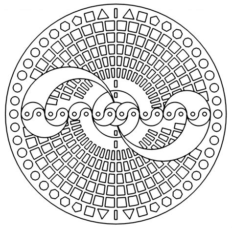 Free Coloring Pages Of Geometric Pages Geometric Coloring Pages Free