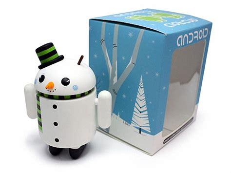 android mini snowman android mini figure special edition gadgetsin