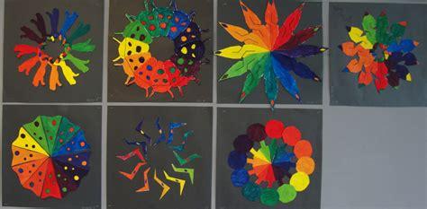 creative color wheel paper scissors glue creative color wheel