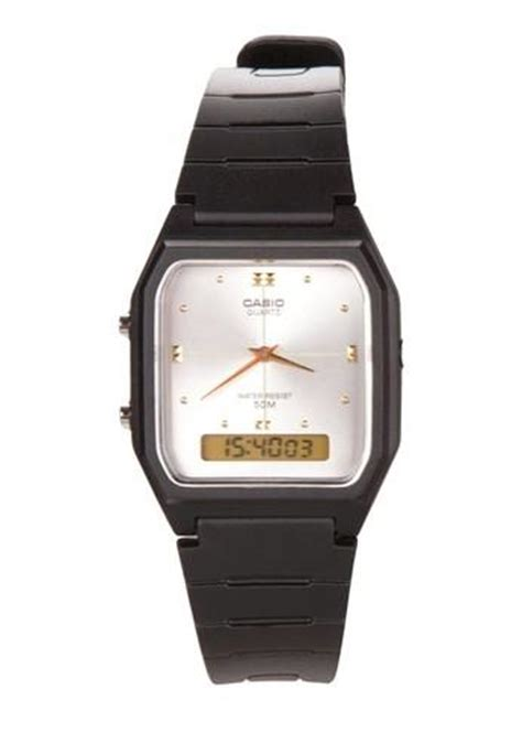 Casio Square Watches harga casio square combination aw 48he 7a