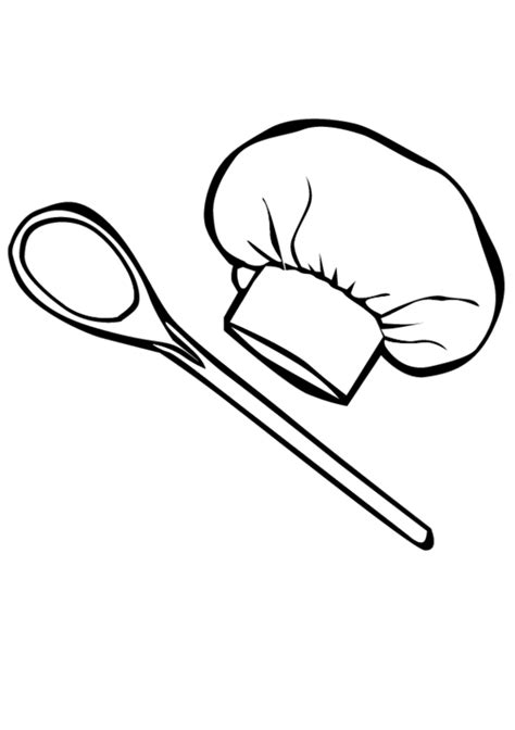 coloring page chef hat chef hat cliparts co