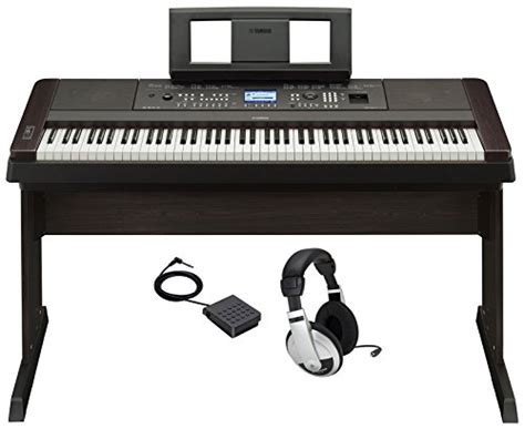 Pedal Keyboard Sustain Match Mp6 yamaha dgx 650b 88 weighted digital piano w matching black stand sustain pedal and headphones