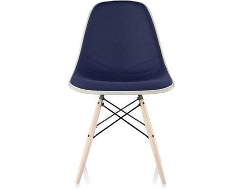 Molded Chair by Eames 174 Upholstered Side Chair With Dowel Base Hivemodern