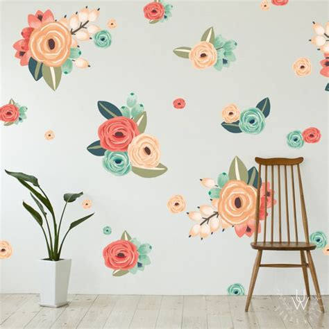 wall flower stickers 17 best ideas about flower wall decals on