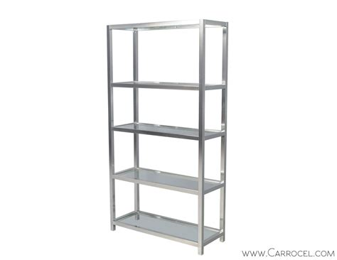 Etagere Retro by Vintage Polished Chrome Etagere Carrocel Furniture