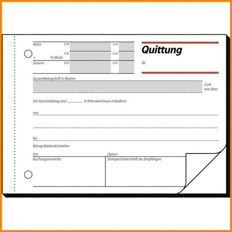Quittung Schreiben Muster 9 quittung muster analysis templated analysis templated