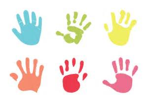free baby hand print vector illustration download free