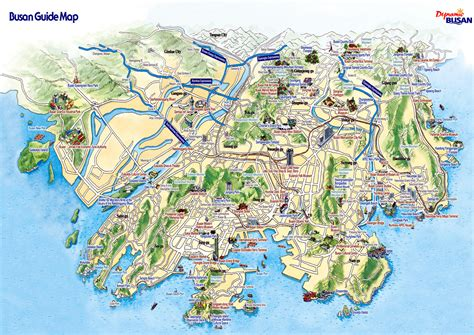 tourist attractions map busan city tourist map busan korea mappery