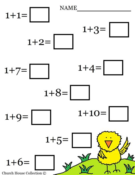 Work For Kindergarten Worksheets by Church House Collection Easter Math Worksheets For