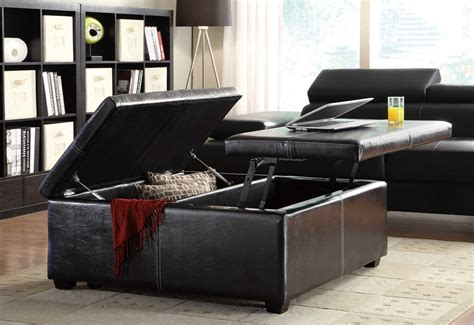 lift top storage ottoman coffee table homelegance synergy lift top storage cocktail ottoman