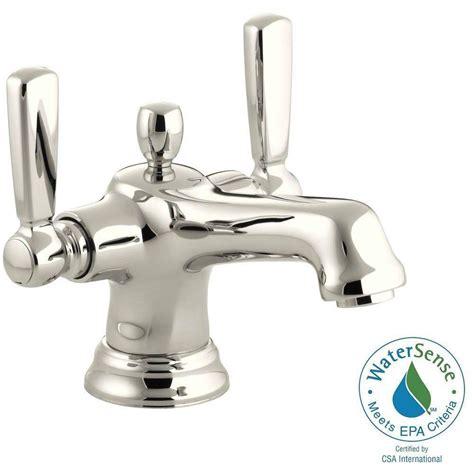Single Two Handle Bathroom Faucet by Kohler Bancroft Single 2 Handle Low Arc Bathroom