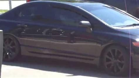 2007 honda civic black rims hillyard custom tire 2010 honda civic rolling on 18